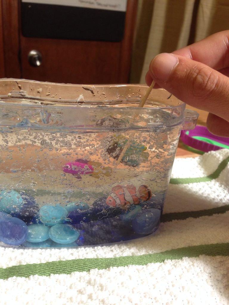 Искусственный аквариум своими руками фото