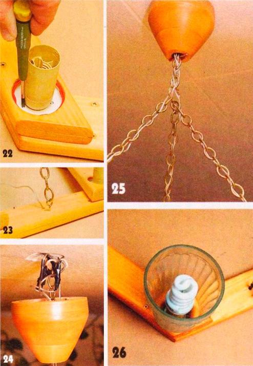 Как изготовить люстру своими руками из дерева