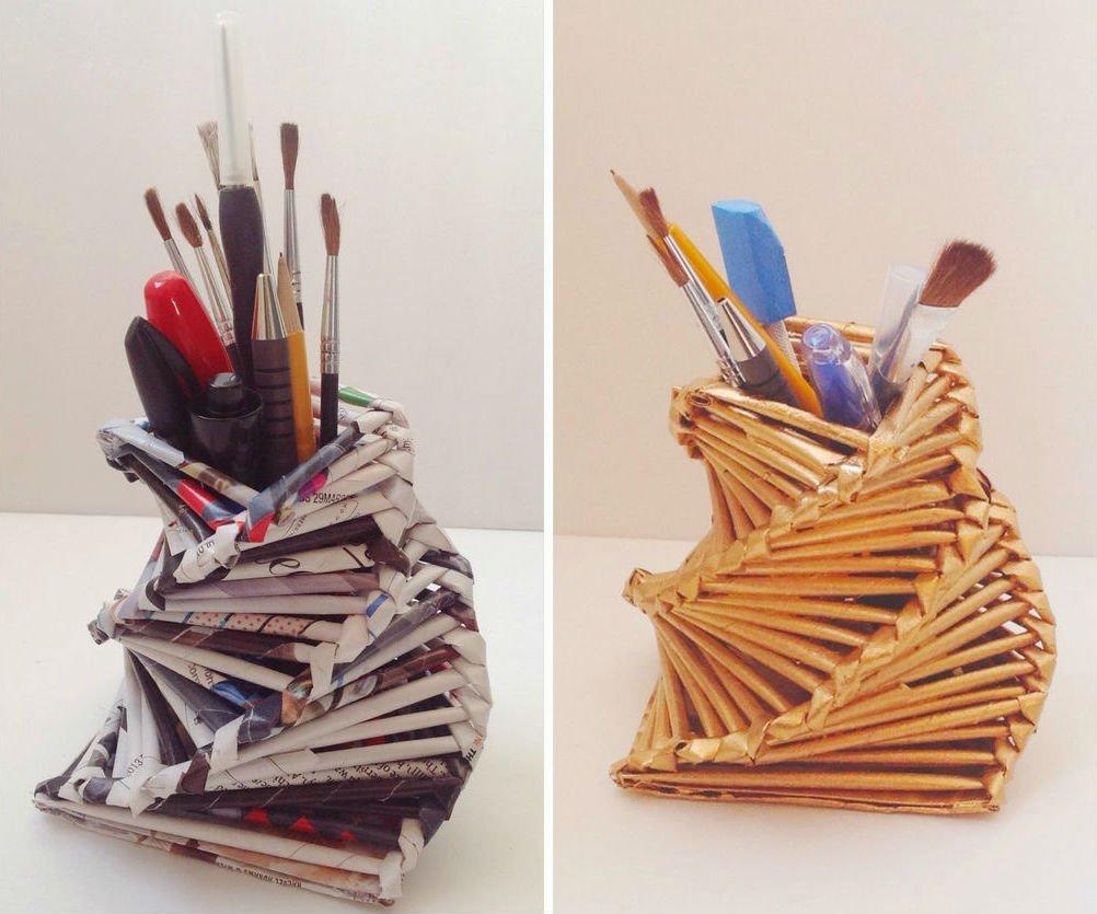 Подставка для карандашей своими руками из карандашей