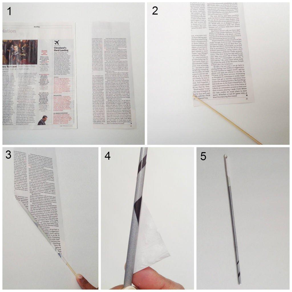 Как сделать карандаш из газеты