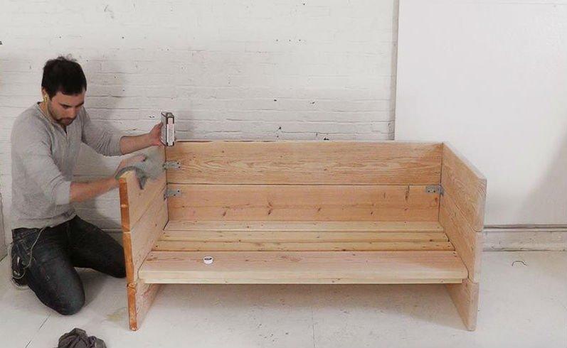 Как своими руками сделать детский диван