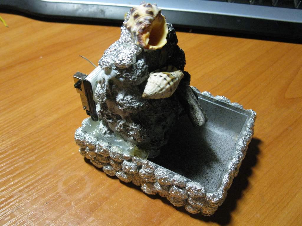 Как сделать декоративный комнатный фонтанчик своими руками