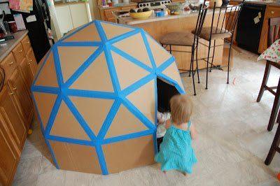 Детские домики фото из картона своими руками